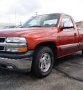 chevrolet silverado 1500 2001 orange pickup truck ls gasoline 8 cylinders rear wheel drive automatic 60115