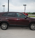 kia sorento 2011 burgandy ex gasoline 4 cylinders 2 wheel drive automatic 76087