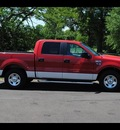 ford f 150 2005 red pickup truck xlt gasoline 8 cylinders rear wheel drive automatic 75570