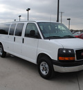 gmc savana passenger 2011 white van flex fuel 8 cylinders rear wheel drive automatic 76087