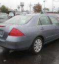 honda accord 2007 gray sedan ex l v 6 gasoline 6 cylinders front wheel drive automatic 13502