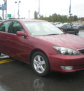 toyota camry 2005 red sedan gasoline 4 cylinders front wheel drive automatic with overdrive 13502