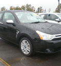 ford focus 2008 black coupe gasoline 4 cylinders front wheel drive automatic with overdrive 13502