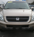 honda pilot 2005 tan suv exl gasoline 6 cylinders all whee drive automatic 13502