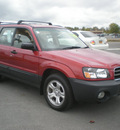 subaru forester 2004 red suv 2 5 x gasoline 4 cylinders all whee drive automatic 13502