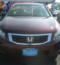 honda accord 2008 maroon sedan lx gasoline 4 cylinders front wheel drive 5 speed manual 13502