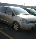 nissan quest 2007 tan van gasoline 6 cylinders front wheel drive automatic 13502