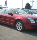 ford fusion 2008 red sedan se gasoline 4 cylinders front wheel drive automatic 13502