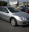 honda accord 2007 silver sedan ex gasoline 6 cylinders front wheel drive automatic 13502