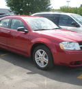 dodge avenger 2008 red sedan sxt gasoline 4 cylinders front wheel drive automatic 13502