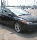 honda civic 2007 black coupe si gasoline 4 cylinders front wheel drive 6 speed manual 13502