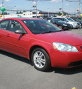 pontiac g6 2006 red sedan se1 gasoline 6 cylinders front wheel drive automatic 13502