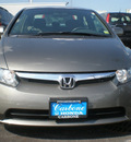 honda civic 2008 gray sedan lx gasoline 4 cylinders front wheel drive automatic 13502