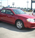 dodge avenger 2008 red sedan sxt 6 cylinders front wheel drive automatic 13502