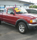 ford ranger 2004 red gasoline 6 cylinders 4 wheel drive automatic with overdrive 13502