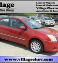 nissan sentra 2010 red sedan s gasoline 4 cylinders front wheel drive automatic 55391