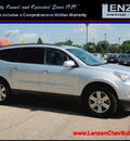 chevrolet traverse 2010 silver suv lt awd gasoline 6 cylinders all whee drive automatic 55318