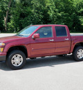 chevrolet colorado 2009 dk  red pickup truck crew cab lt 4x4 gasoline 5 cylinders 4 wheel drive automatic 55318