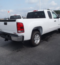 gmc sierra 1500 2011 white pickup truck sle flex fuel 8 cylinders 2 wheel drive automatic with overdrive 28557