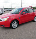 ford focus 2008 red sedan se 4dsr gasoline 4 cylinders front wheel drive automatic 56301