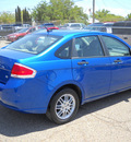 ford focus 2010 blue sedan se gasoline 4 cylinders front wheel drive automatic 79925
