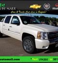 chevrolet silverado 1500 2011 white lt flex fuel 8 cylinders 4 wheel drive 6 speed automatic 55313