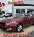 kia optima 2011 dk  red sedan ex turbo gasoline 4 cylinders front wheel drive automatic 44060