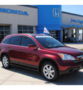 honda cr v 2007 dk  red suv ex l gasoline 4 cylinders front wheel drive automatic with overdrive 77065