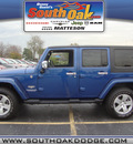 jeep wrangler unlimited 2010 blue suv sahara gasoline 6 cylinders 4 wheel drive automatic 60443