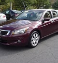 honda accord 2009 burgundy sedan ex l v6 gasoline 6 cylinders front wheel drive automatic 06019
