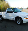 chevrolet s 10 2001 white pickup truck ls flex fuel 4 cylinders rear wheel drive 5 speed manual 98226