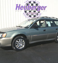 subaru outback 2003 timberline green wagon gasoline 4 cylinders sohc all whee drive 5 speed manual 80905