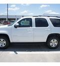 chevrolet tahoe 2011 white suv ls flex fuel 8 cylinders 2 wheel drive 6 spd auto,elec cntlled o 77090