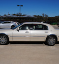 lincoln town car 2003 tan sedan cartier l gasoline 8 cylinders sohc rear wheel drive automatic with overdrive 76087