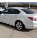 honda accord 2009 white sedan ex l v6 gasoline 6 cylinders front wheel drive automatic 77065