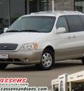 kia sedona 2003 white van ex gasoline 6 cylinders dohc front wheel drive automatic 62034