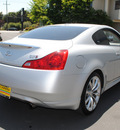 infiniti g37 coupe 2009 silver coupe journey gasoline 6 cylinders rear wheel drive automatic 94010