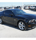 ford mustang 2012 black coupe gt premium gasoline 8 cylinders rear wheel drive automatic 77388