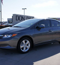 honda civic 2012 dk  gray sedan lx gasoline 4 cylinders front wheel drive automatic 76018