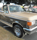 ford f 150 1989 tan pickup truck xlt lariat gasoline v8 rear wheel drive 4 speed with overdrive 34474