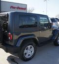 jeep wrangler 2007 dk  blue suv sahara gasoline 6 cylinders 4 wheel drive automatic 76210
