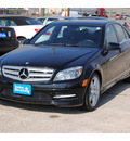 mercedes benz c300 2011 black sedan gasoline 6 cylinders rear wheel drive automatic 77037