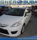 mazda mazda5 2008 white van grand touring gasoline 4 cylinders front wheel drive automatic 45324