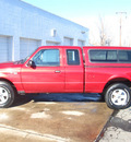 ford ranger 2003 red xlt gasoline 6 cylinders sohc 4 wheel drive automatic 80301