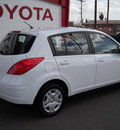 nissan versa 2010 white hatchback gasoline 4 cylinders front wheel drive automatic 79925