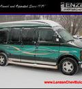 gmc savana rv g1500 2002 green van starcraft dvd 8 cylinders automatic 55318