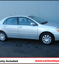 toyota corolla 2007 silver sedan le gasoline 4 cylinders front wheel drive automatic 55448
