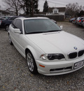 bmw 3 series 2002 white coupe 325ci gasoline 6 cylinders rear wheel drive 5 speed with overdrive 45324