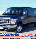 ford econoline wagon 2012 dk  blue van e 150 xlt flex fuel 8 cylinders rear wheel drive automatic 62708