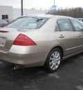 honda accord 2006 tan sedan ex gasoline 6 cylinders front wheel drive automatic 13502
